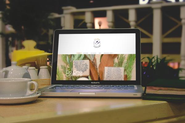 Design page d'accueil Da One Coiffure
